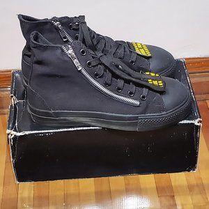 Demonia unisex steel toe high top sneakers